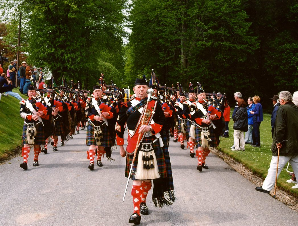Atholl Highlanders Parade at Blair castle for your holiday Scotland