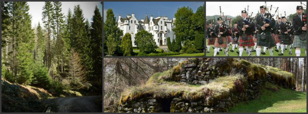 holiday accommodation Pitlochry. Blair Castle and Allean Forest