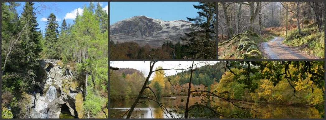 walking accommodation Pitlochry Scotland