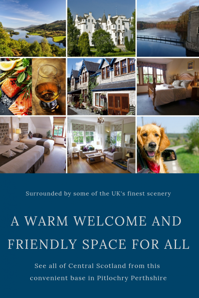 Rosemount Hotel in Pitlochry. Pet friendly, comfortable bedrooms and lounges, near fabulous scenery
