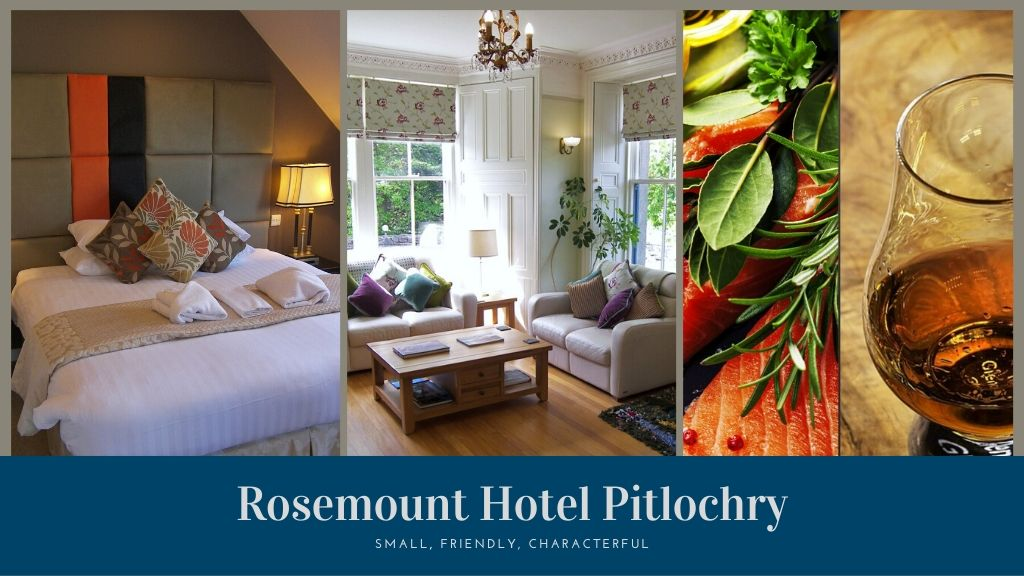 rosemount hotel pitlochry for dinner, bed and breakfast and comfortable relaxation