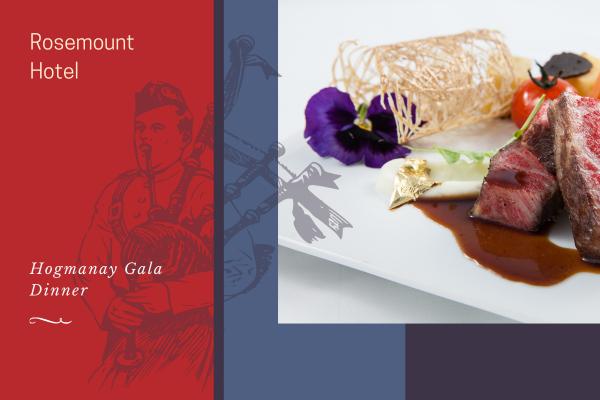 Hogmanay Gala Dinner at Rosemount Pitlochry